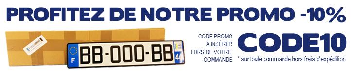 Profitez de notre code promotionnel sur toutes vos commandes de plaques d'immatriculation