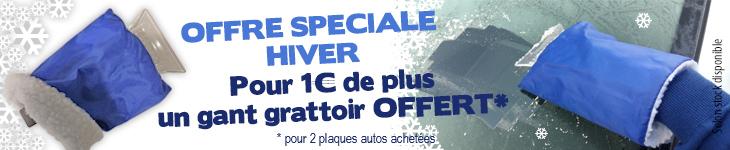 Pour un euro de plus 1 gant grattoir offert