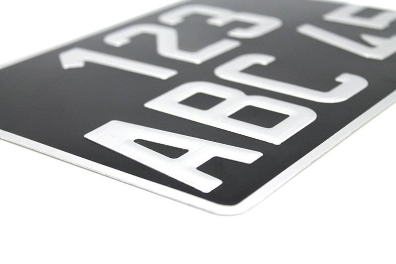 Plaque collection alu noire 275x200