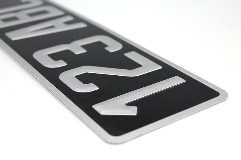 Plaque collection alu noire 455x100