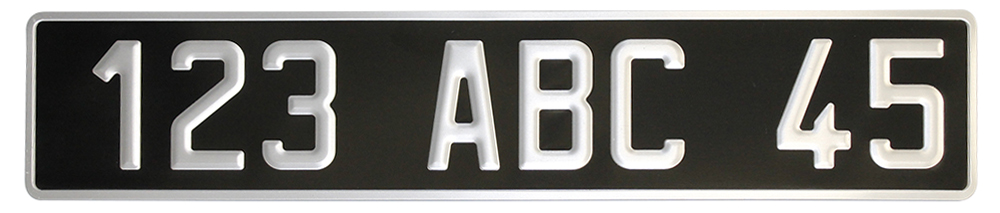 Plaque collection alu noire 520x110