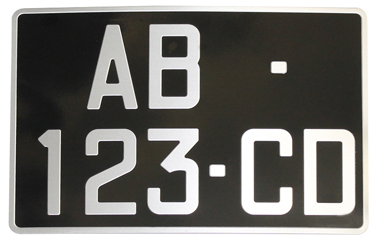 Plaque collection alu noire 300x200