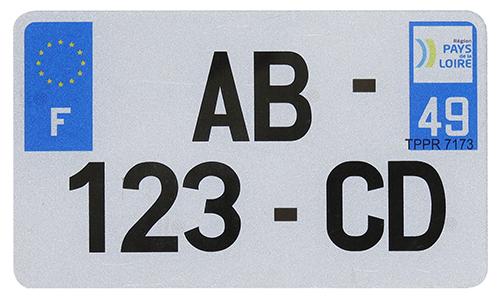 Plaque moto pvc 210x130