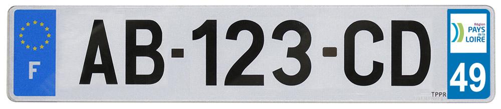 Plaque auto pvc 520x110
